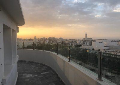 Le Grand Théâtre de Casablanca et la Mosquée Hassan II vus depuis H2/61.26