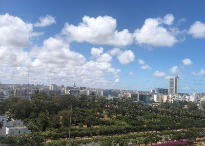 Les Twin towers de Casablanca et le Parc de la Ligue Arabe vues depuis H2/61.26